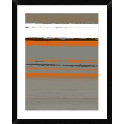 "'Abstract Orange 2' Framed Print Size: 30"" H x 24"" W x 1.5"" D DPF-391939-1824-313"