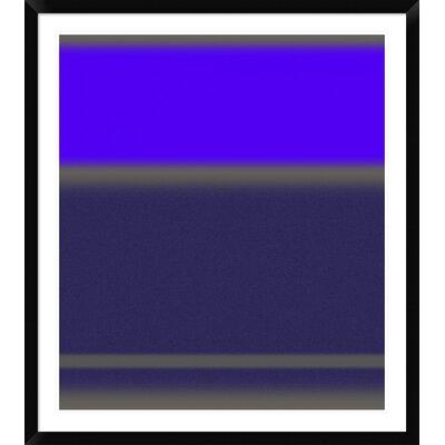 "'Abstract Purple' Framed Print Size: 42"" H x 37"" W x 1.5"" D DPF-391864-36-313"