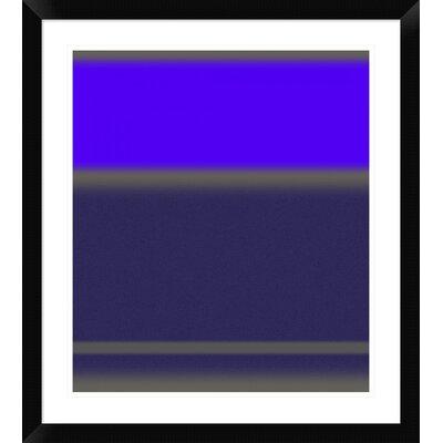 "'Abstract Purple' Framed Print Size: 28"" H x 25"" W x 1.5"" D DPF-391864-22-313"