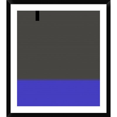 """'Abstract White Stripes' Framed Print Size: 36"""" H x 32"""" W x 1.5"""" D DPF-391863-30-313"""