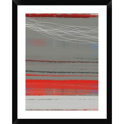 """'Abstract Red 2' Framed Print Size: 30"""" H x 24"""" W x 1.5"""" D DPF-391935-1824-313"""