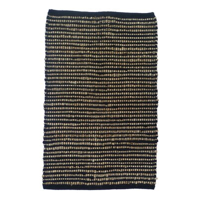 Sand Stripe Black/Gold Area Rug Rug Size: 4 x 6