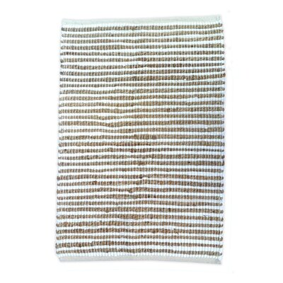 Sand Stripe White/Natural Area Rug Rug Size: Runner 25 x 8