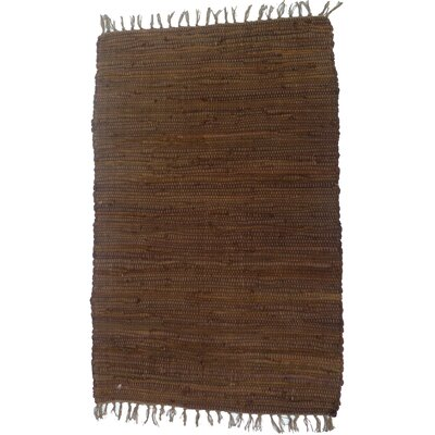 Country Brown Area Rug Rug Size: 2 x 3