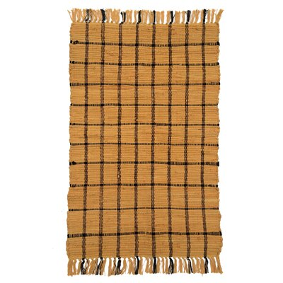 Country Amber/Black Area Rug Rug Size: 2 x 3
