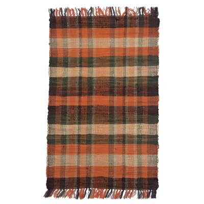 Country Tangerine Area Rug Rug Size: 2 x 3