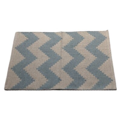 Chevron Metal Area Rug Rug Size: 2 x 3