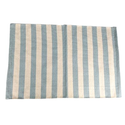 Narrow Stripe Metal Area Rug Rug Size: 25 x 42