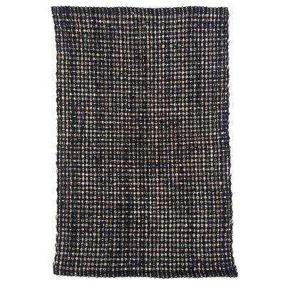 Terra Black Area Rug Rug Size: 26 x 42