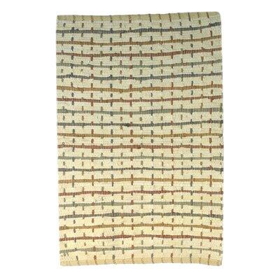 Kenisha Dots Handmade Ivory Area Rug Size: 2 6 x 4 2