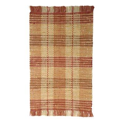Levine Handmade Brick Area Rug Size: 2 6 x 4 2