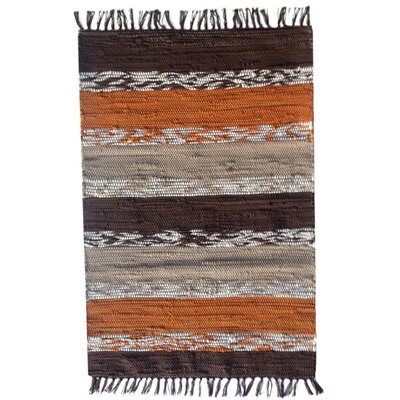 Danette Handmade Tan Area Rug Size: 2 6 x 4 2