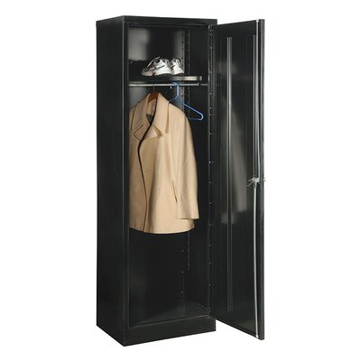 78 H x 24 W x 24 D Wardrobe Armoire Finish: Black