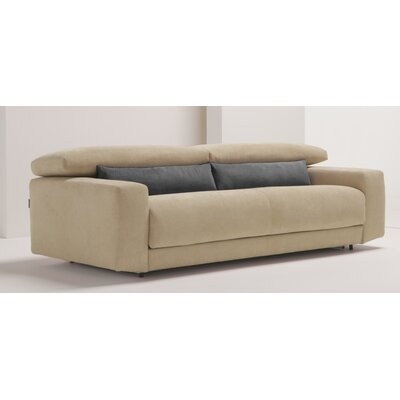 Michele Queen Sleeper Sofa Upholstery: Light Brown