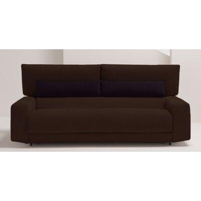 Michele Queen Sleeper Sofa Upholstery: Dark Brown