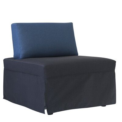 Jeanne Convertible Chair Upholstery: Dark Gray/Ocean Blue