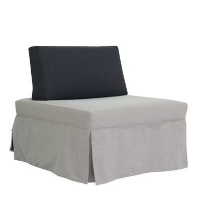 Jeanne Convertible Chair Upholstery: Light Gray/Dark Gray