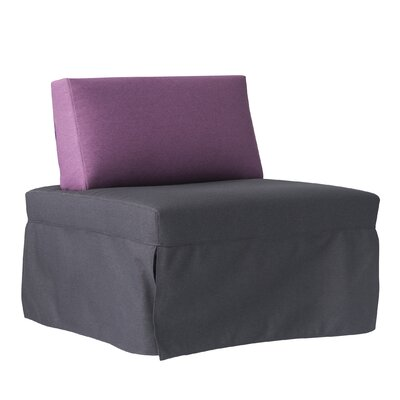 Jeanne Convertible Chair Upholstery: Dark Gray/Eggplant