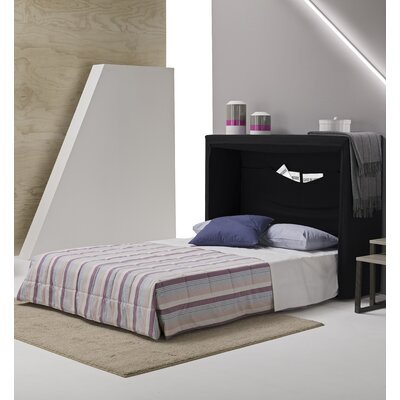 Sue Full/Double Upholstered Murphy Bed with Mattress Color: Dark Gray