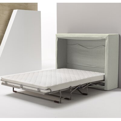 Sue Full/Double Upholstered Murphy Bed with Mattress Color: Ivory