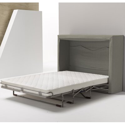 Sue Full Upholstered Murphy Bed Color: Polar Gray