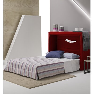 Sue Full/Double Upholstered Murphy Bed with Mattress Color: Red