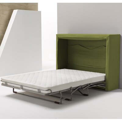 Sue Full Upholstered Murphy Bed Color: Green