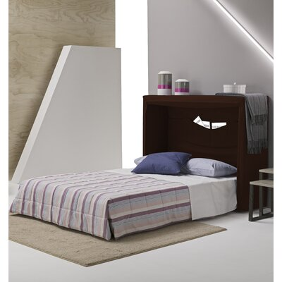 Sue Full/Double Upholstered Murphy Bed with Mattress Color: Chocolate