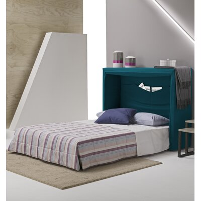 Sue Full Upholstered Murphy Bed Color: Turquoise Blue