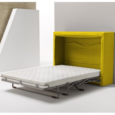 Sue Full Upholstered Murphy Bed Color: Yellow