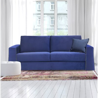 Wallen Full Sofa Upholstery: Navy Blue