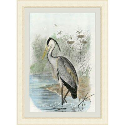 Oversize Common Heron Framed Painting Print GBL68216