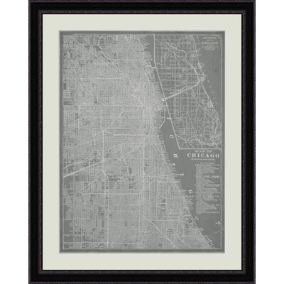 City Map of Chicago Framed Graphic Art GBL64744
