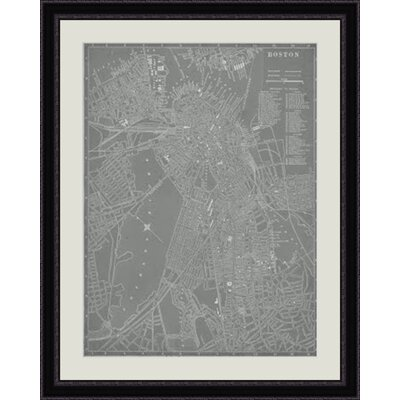 City Map of Boston Framed Graphic Art GBL64745