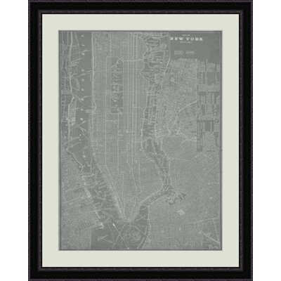 City Map of New York Framed Graphic Art GBL64746