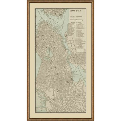 Tinted Map of Boston Framed Graphic Art GBL64888