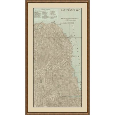 Tinted Map of San Francisco Framed Graphic Art GBL64889