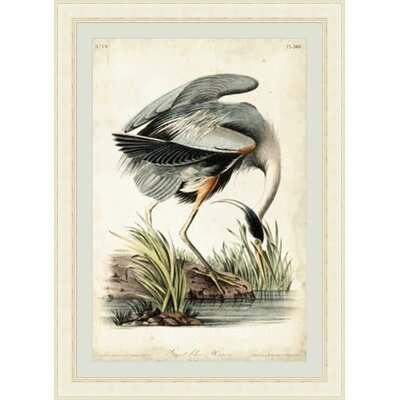 'Great Heron II' Framed Painting Print GBL92387