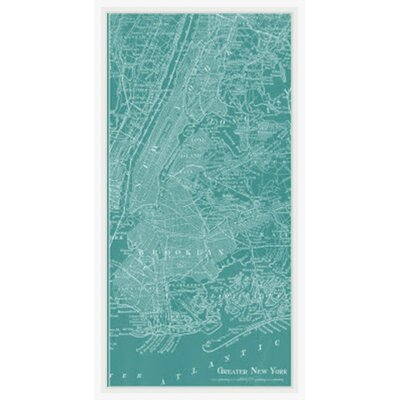 Map of New York Framed Graphic Art GBL92552