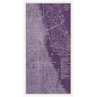 Map of Chicago Framed Graphic Art GBL92553
