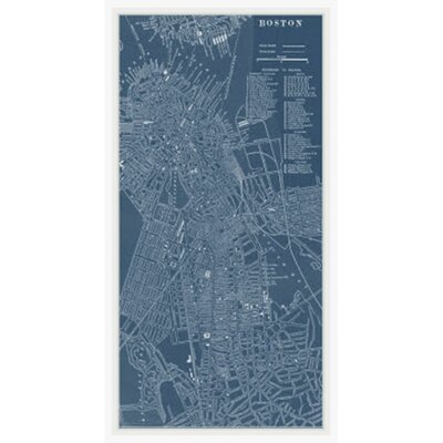 Map of Boston Framed Graphic Art GBL92554
