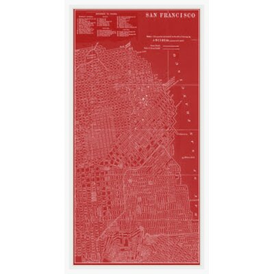 Map of San Francisco Framed Graphic Art GBL92555
