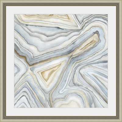 'Agate Abstract I' Framed Painting Print