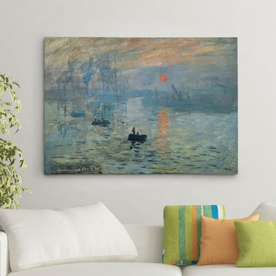 'Impression Sunrise' by Claude Monet Painting Print on Canvas HAC15-110