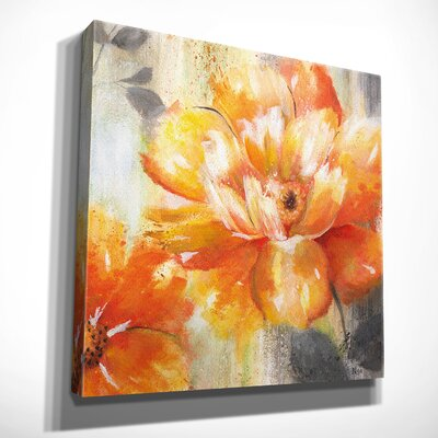 'Orange Crush II' Oil Painting Print on Wrapped Canvas Size: 16
