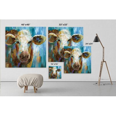 'LuLu Belle' Acrylic Painting Print on Gallery Wrapped Canvas Size: 16