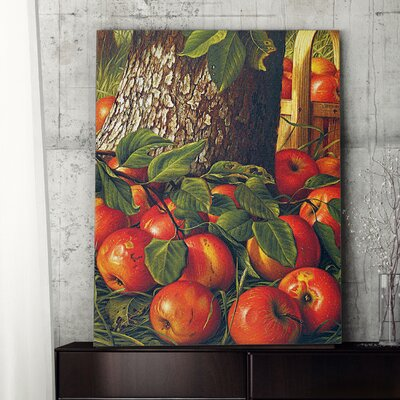 'Apples Beneath a Tree Prentice' Photographic Print on Canvas Size: 27