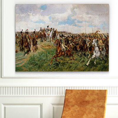 'Battle of Friedland' Graphic Art Print on Canvas Size: 18