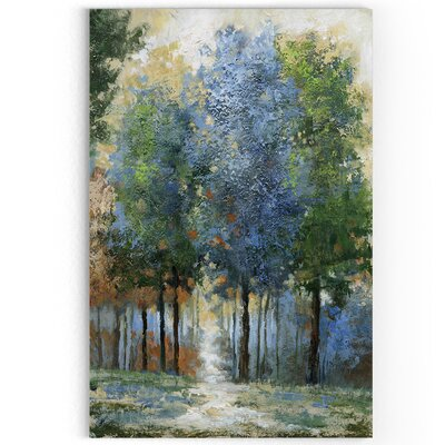 'Afternoon Light' Oil Painting Print on Wrapped Canvas Size: 27