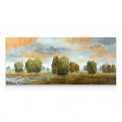 'Meadow Vista II' Oil Painting Print on Wrapped Canvas Size: 12